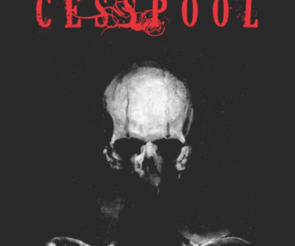 stylish skeleton with cesspool title