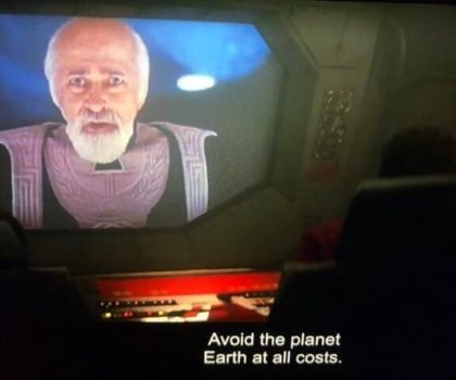 star trek caption stay away from Earth